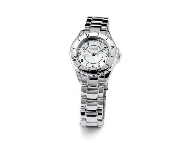 Ladies Silver Tone Band Dial Sport Style Bracelet Watch
