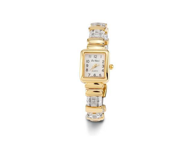 Women's New Gold Tone Clear Plastic Band Bangle Watch