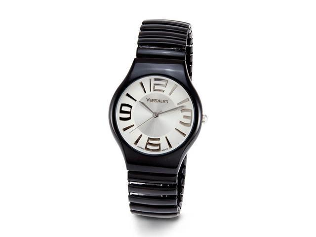 Ladies Black Band Large Numbers Womens Quartz Watch