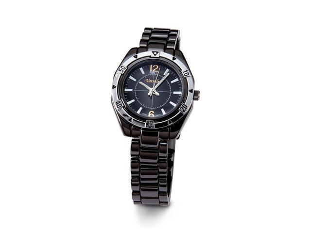 Womens Black Dial Stylish Black Quartz Bracelet Watch