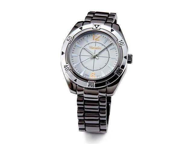 Mens White Dial Stylish Black Quartz Bracelet Watch