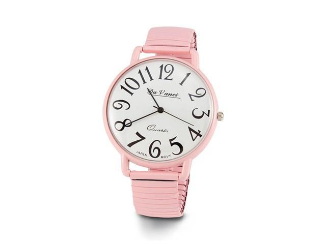 New Pink Band Round Dial Ladies Bracelet Quartz Watch