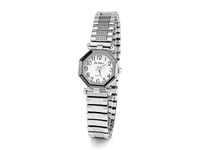 Ladies Silver Tone Adjustable Quartz Fashion Wristwatch