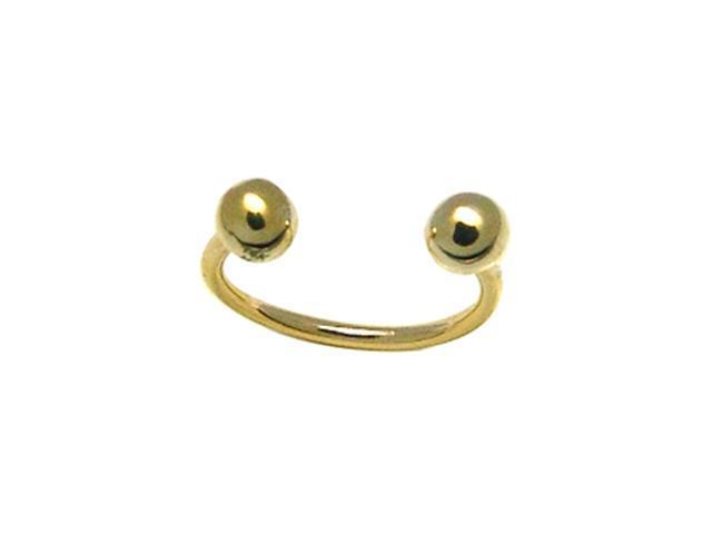 14k Yellow Gold Curved Circular Barbell Eyebrow Ring