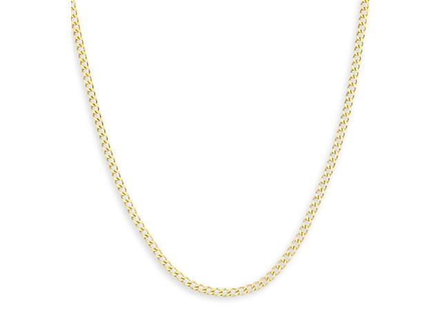 14k Yellow Gold Cuban Curb Link Chain Ankle Bracelet