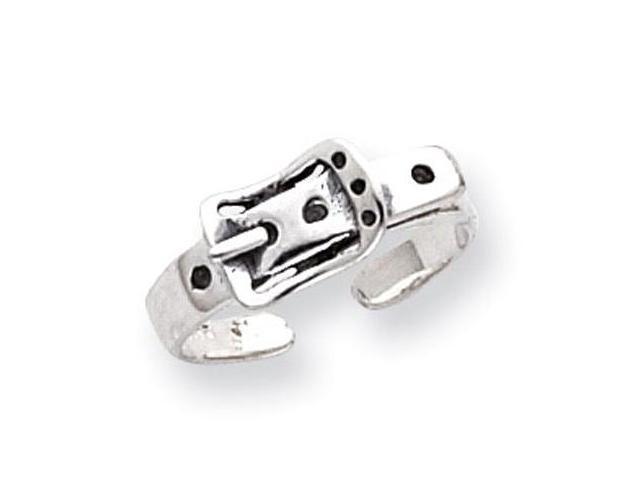925 Sterling Silver Solid Antiqued Belt Buckle Toe Ring