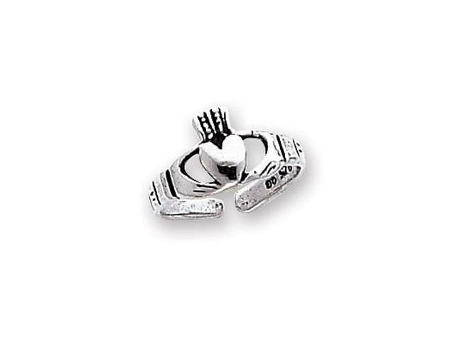 925 Sterling Silver Friendship Love Claddagh Toe Ring