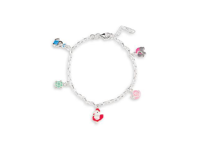 925 Silver Multi-Color Animal Ankle Bracelet Anklet