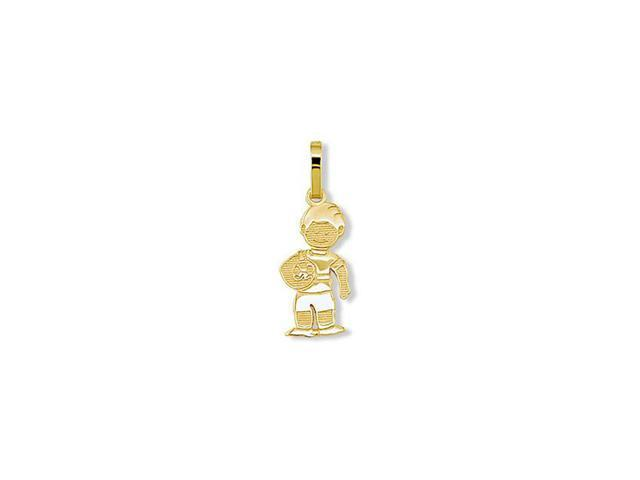 Childrens 14k Solid Gold Sports Soccer Ball Boy Pendant