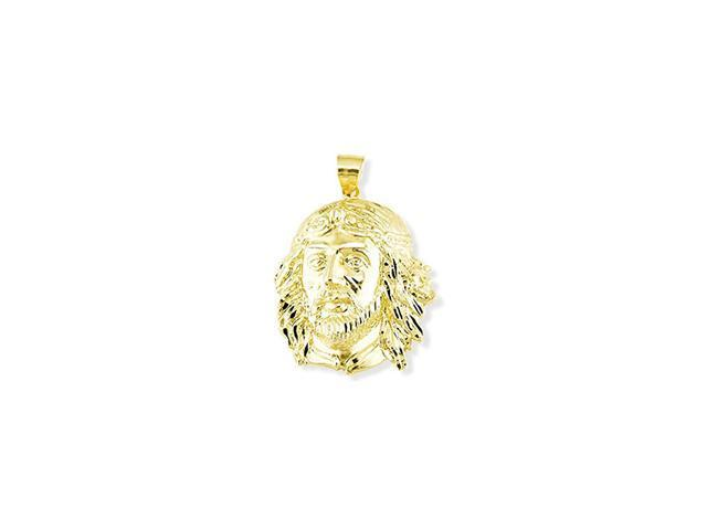 14k Yellow Gold Solid Jesus Christ Religious Pendant
