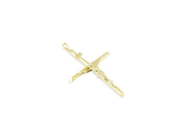 14k Yellow Gold INRI Cross Crucifix Religious Pendant