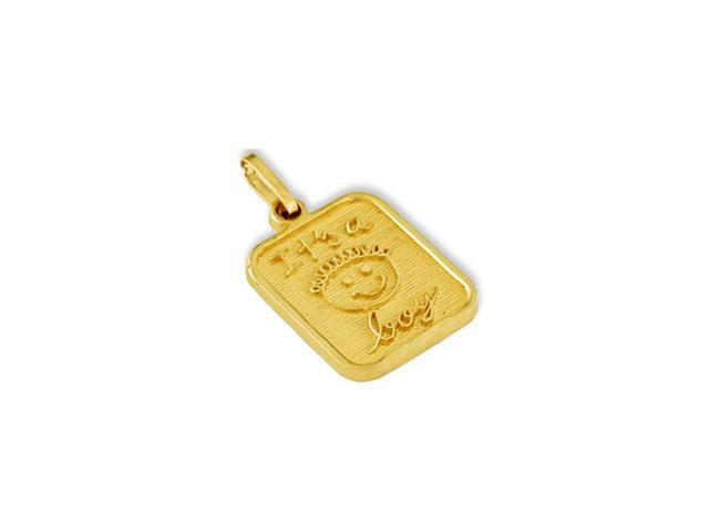 Solid 14k Yellow Gold Its A Boy Baby Fashion Pendant