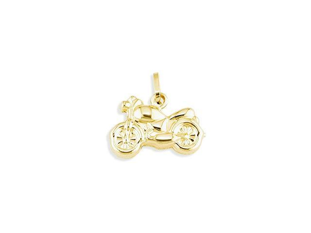 Italian 14k Yellow Gold Italian Motorcycle Bike Pendant