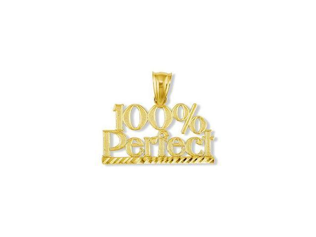 Solid 14k Yellow Gold 100% Perfect Diamond Cut Pendant