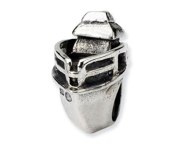 "Solid 925 Sterling Silver Charm 3/8"" Boat Jewelry Bead"
