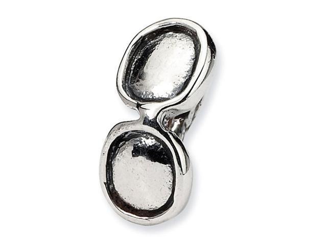 "925 Sterling Silver 1/4"" Sunglasses Kids Jewelry Bead"