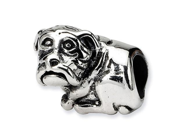 "925 Sterling Silver 3/8"" Dog Trilogy Charm Jewelry Bead"