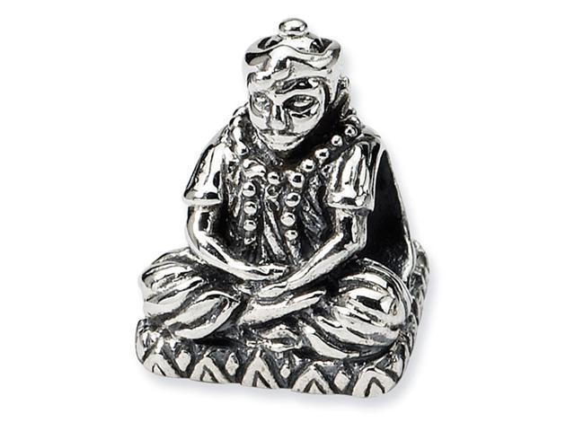 925 Sterling Silver Sitting Buddha Charm Jewelry Bead