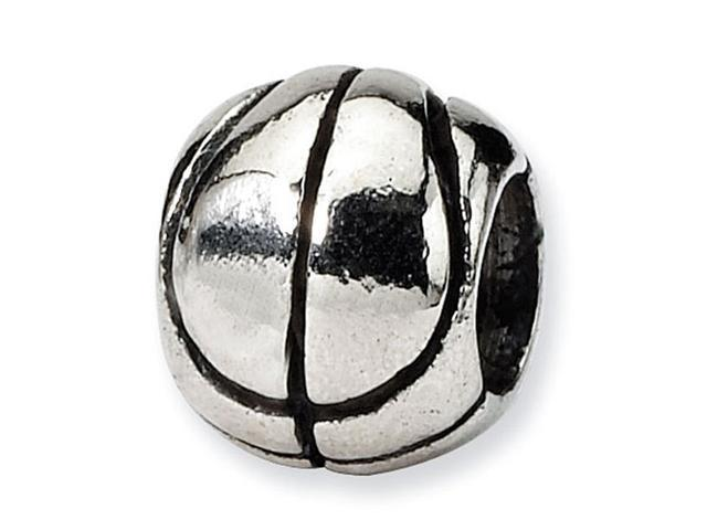 925 Sterling Silver Kids Basketball Sports Charm Bead