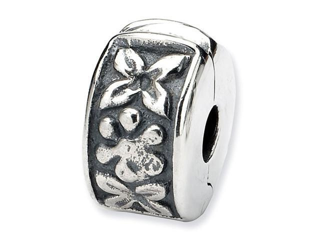 925 Sterling Silver Hinged Flower Clip Bead Charm