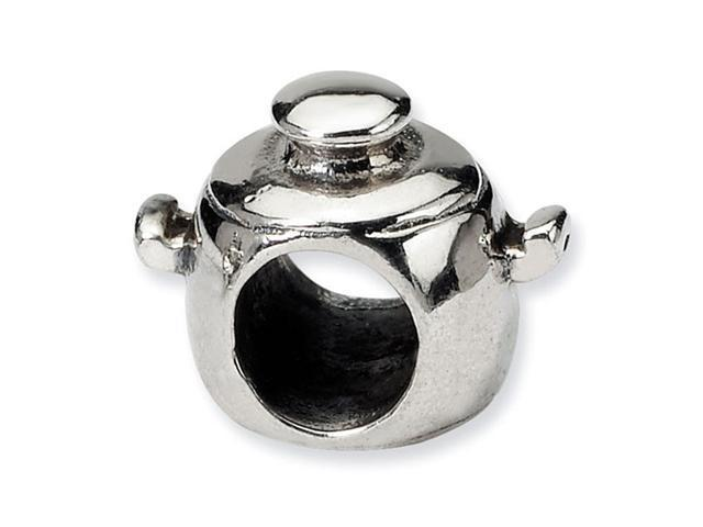925 Sterling Silver Cooking Pot Trilogy Jewelry Bead