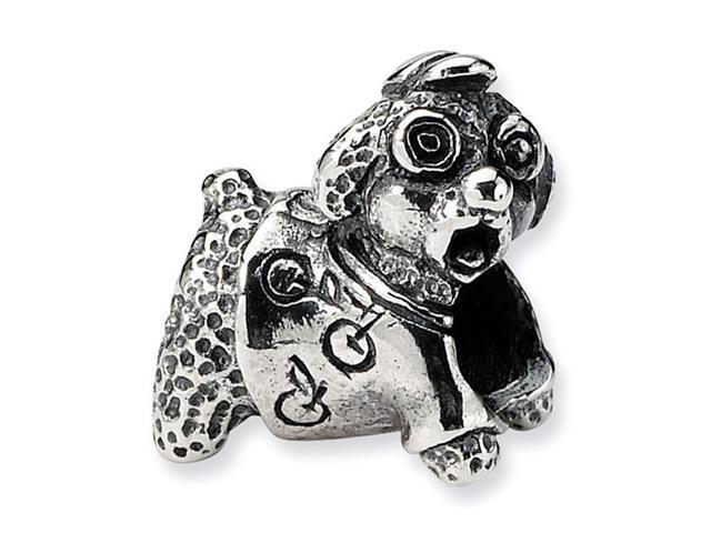 925 Sterling Silver Kids Poodle Dog Charm Jewelry Bead