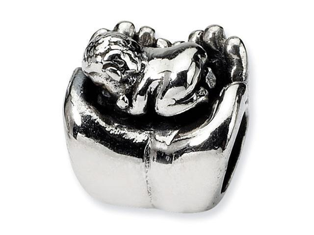925 Sterling Silver Hand Baby Child Charm Jewelry Bead