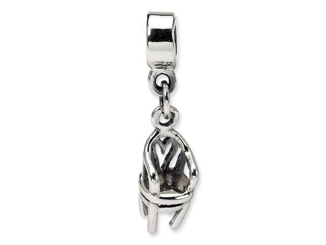 925 Sterling Silver Kids Childs Chair Dangle Charm Bead