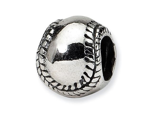 925 Sterling Silver Kids Baseball Sports Charm Bead