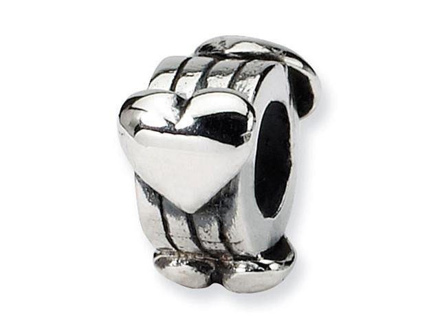 """925 Sterling Silver 3/16"""" Kids Child Hearts Charm Bead"""