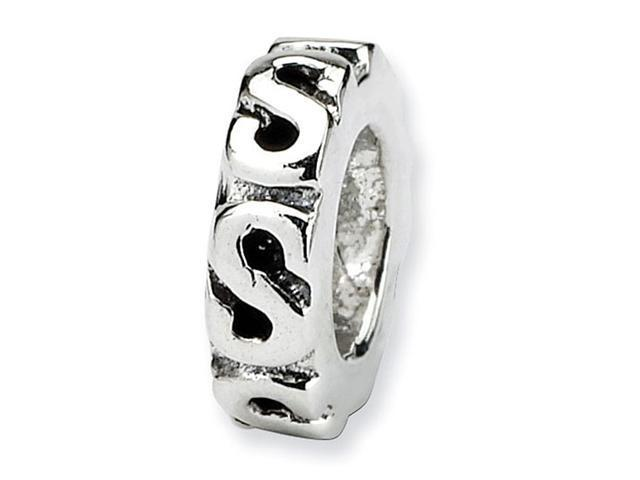 925 Sterling Silver S Swirl Spacer Security Charm Bead