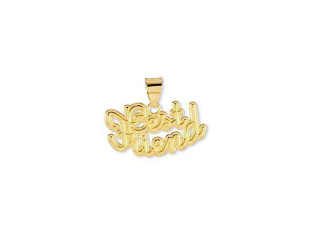 Solid 14k Yellow Gold Best Friend Fashion Pendant