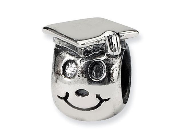 925 Sterling Silver Kids Happy Graduate Jewelry Bead
