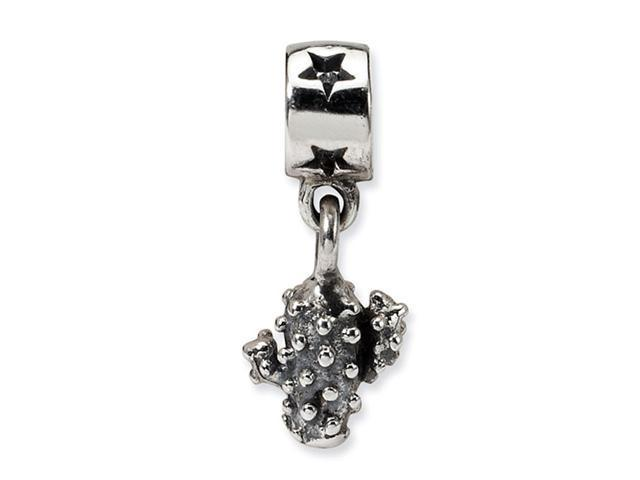 925 Sterling Silver Kids Cactus Stars Dangle Charm Bead