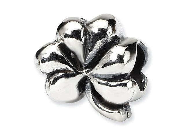 "Solid 925 Sterling Silver 3/8"" Clover Jewelry Bead"