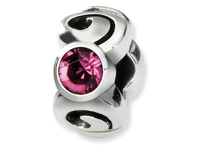 925 Silver October Swavorski Crystal Birthstone Bead