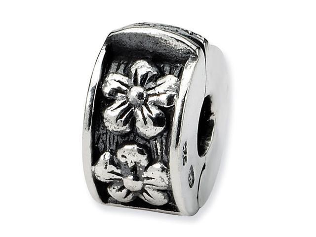 925 Sterling Silver Daisy Flower Hinged Clip Bead Charm