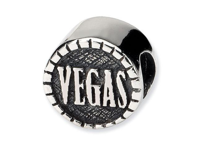 925 Sterling Silver Double Sided Vegas Jewelry Bead
