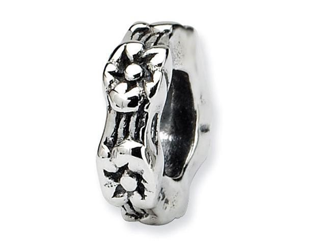 925 Sterling Silver Flower Security Charm Spacer Bead