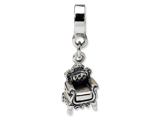 925 Sterling Silver Fancy Chair Dangle Jewelry Bead