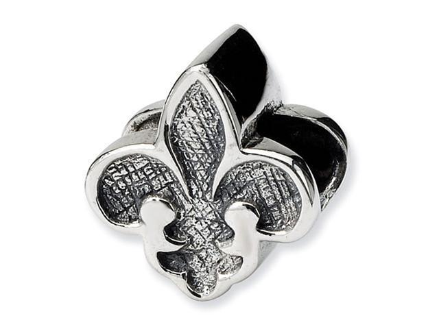 925 Sterling Silver Fleur De Lis Charm Jewelry Bead