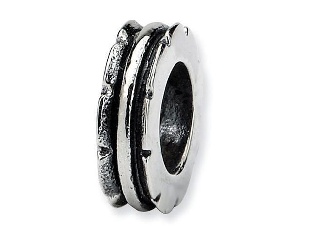 925 Sterling Silver Triple Band Grooved Spacer Bead