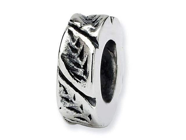 925 Sterling Silver Bracelet Charm Leaves Spacer Bead