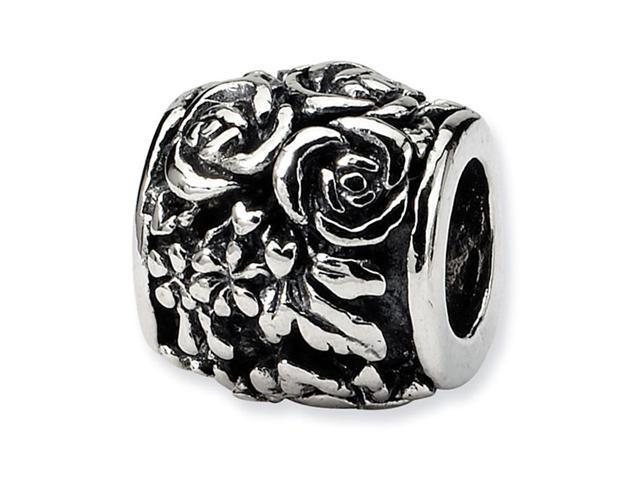 925 Sterling Silver Roses Flowers Charm Jewelry Bead