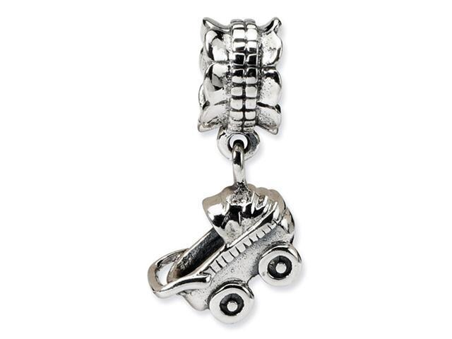 925 Sterling Silver Charm Baby Carriage Dangle Bead