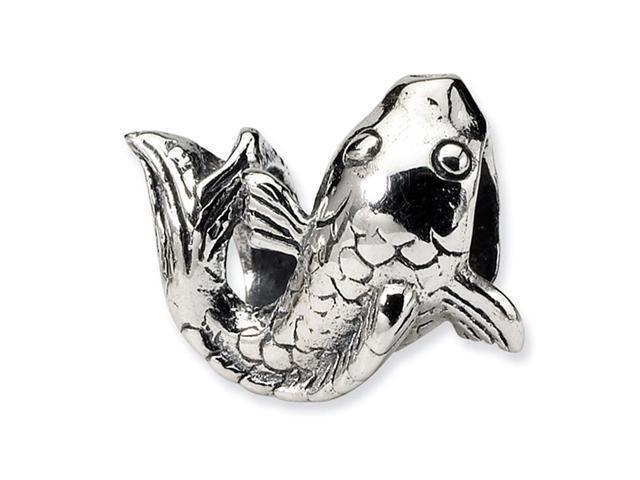 "Solid 925 Sterling Silver 1/2"" Ocean Fish Jewelry Bead"