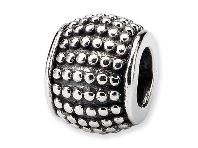 Solid 925 Sterling Silver Round Dots Bali Jewelry Bead