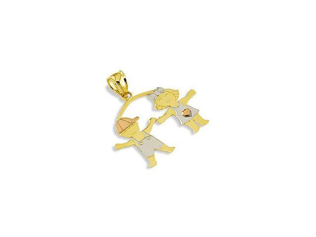 14k White Yellow Rose Gold Boy Girl Childrens Pendant