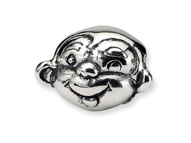 "925 Sterling Silver 1/4"" Kids Monkey Charm Jewelry Bead"