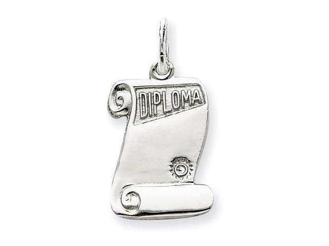 925 Sterling Silver Graduation Diploma Charm Pendant